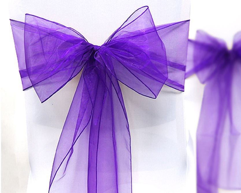 Location Noeud De Chaise Organza Violet
