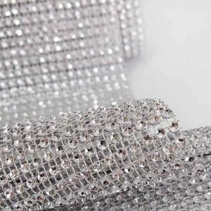 rouleau de strass diamant argent