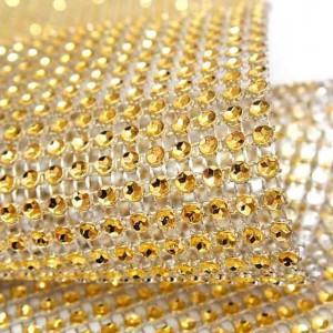 rouleau de strass diamant or