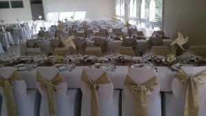 mariage champagne or et chocolat