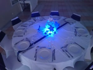 centre table mariage lumineux