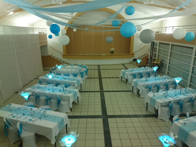 déco mariage turquoise